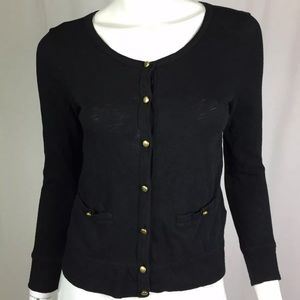 J. Crew Scoop Button Up LS Painter Sweater Knit